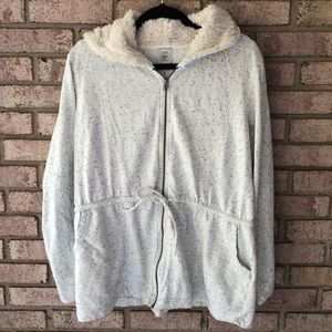 Lucky Lotus Zip Up Jacket Hoodie Size XL
